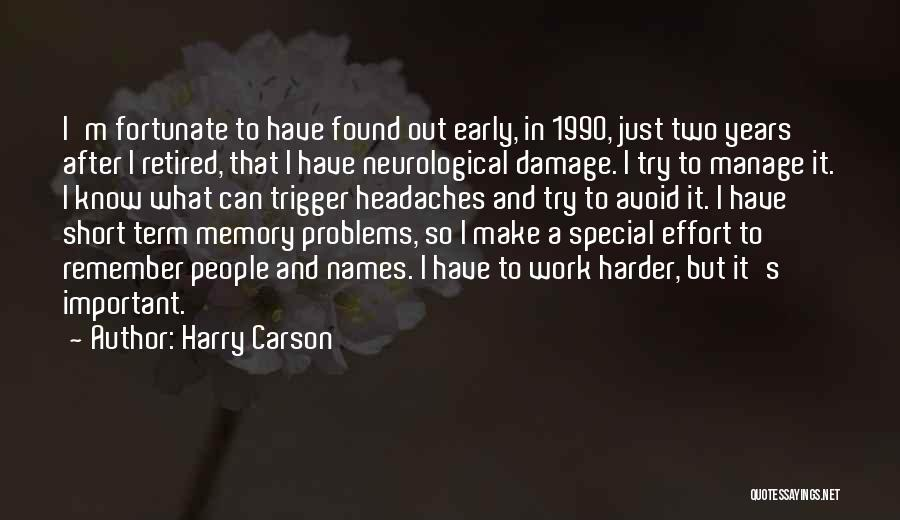 Effort In Work Quotes By Harry Carson