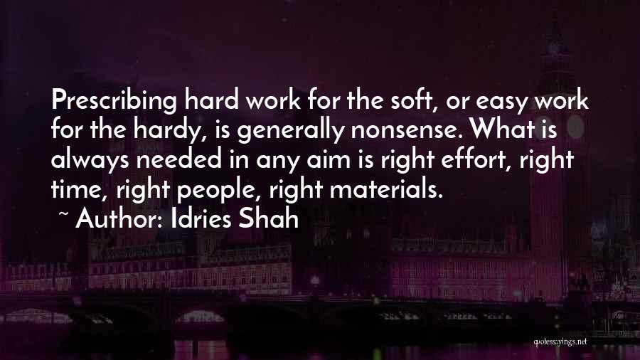 Effort In Work Quotes By Idries Shah
