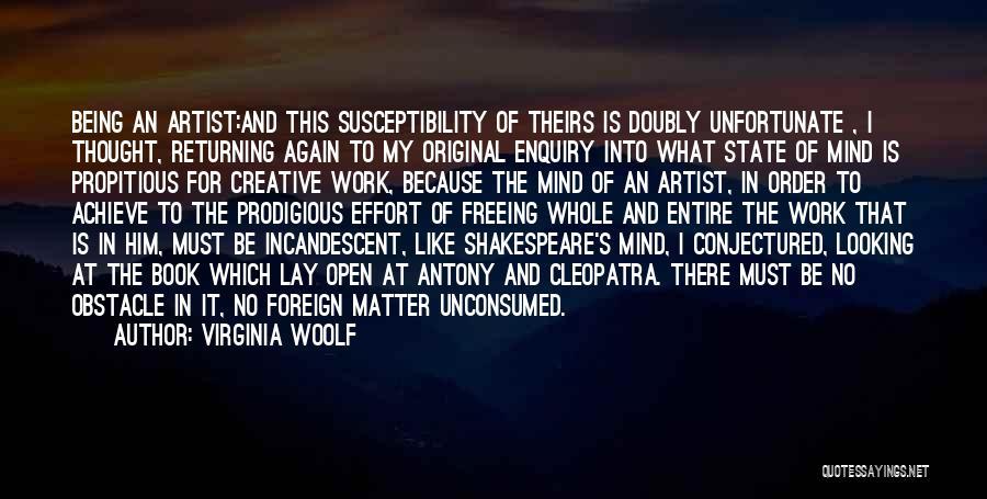 Effort In Work Quotes By Virginia Woolf