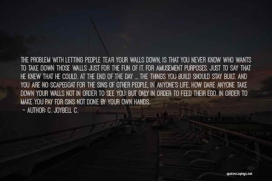 Ego Problem Quotes By C. JoyBell C.