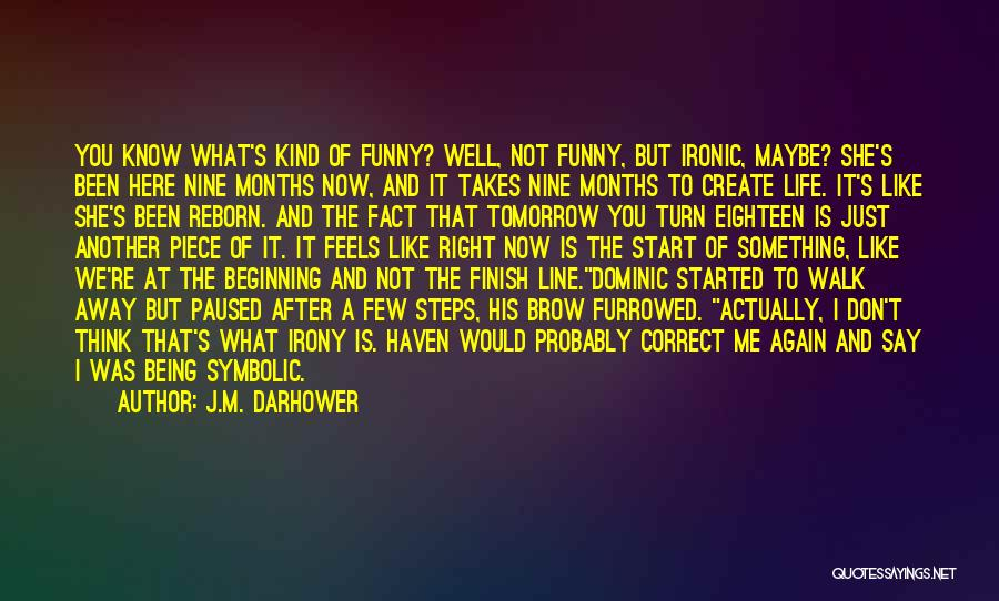Eighteen Funny Quotes By J.M. Darhower