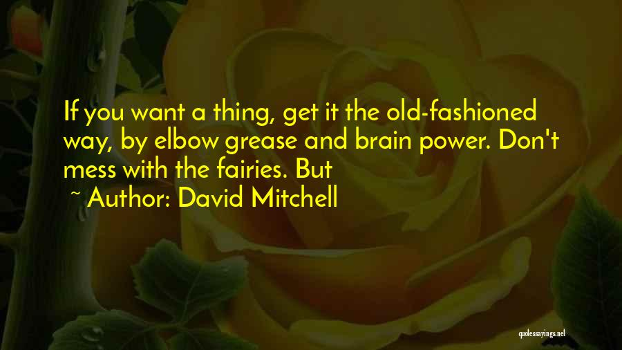 Elbow Grease Quotes By David Mitchell