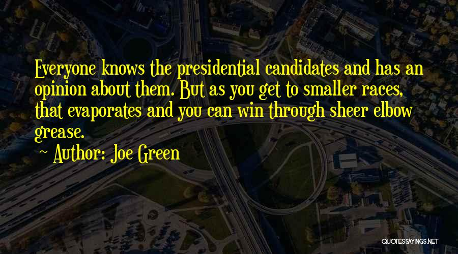 Elbow Grease Quotes By Joe Green