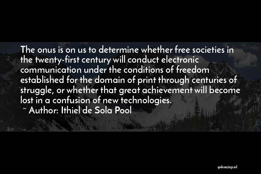 Electronic Communication Quotes By Ithiel De Sola Pool