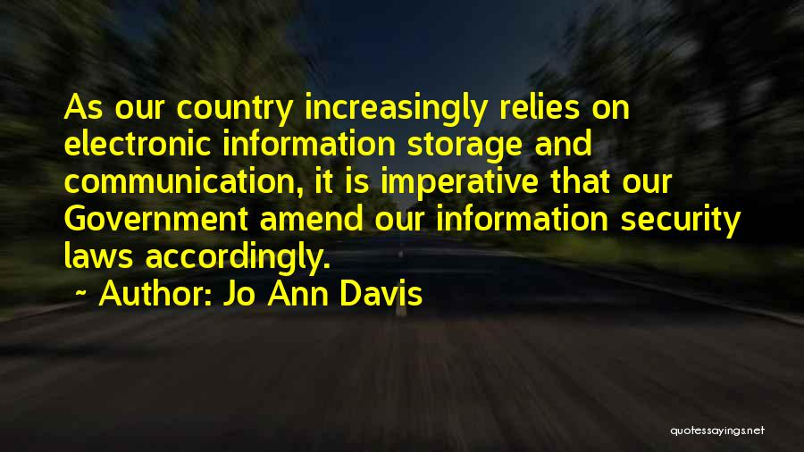 Electronic Communication Quotes By Jo Ann Davis