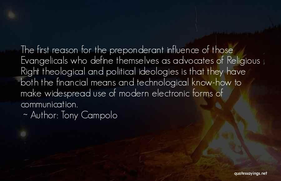 Electronic Communication Quotes By Tony Campolo