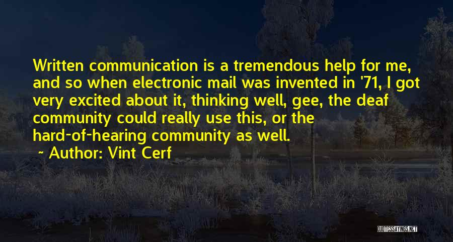 Electronic Communication Quotes By Vint Cerf