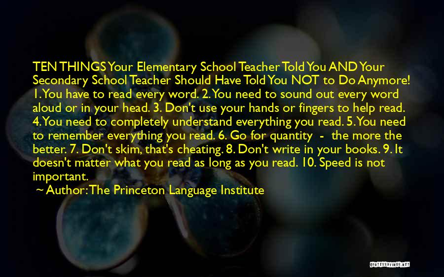 Elementary School Teacher Quotes By The Princeton Language Institute