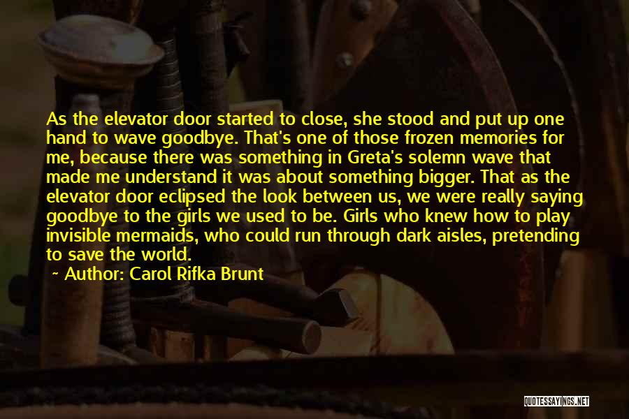 Elevator Door Quotes By Carol Rifka Brunt