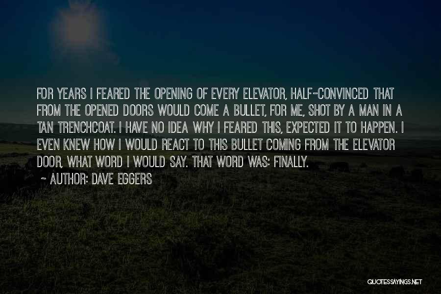 Elevator Door Quotes By Dave Eggers