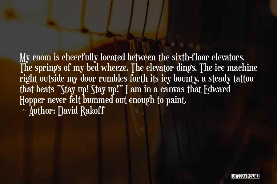 Elevator Door Quotes By David Rakoff