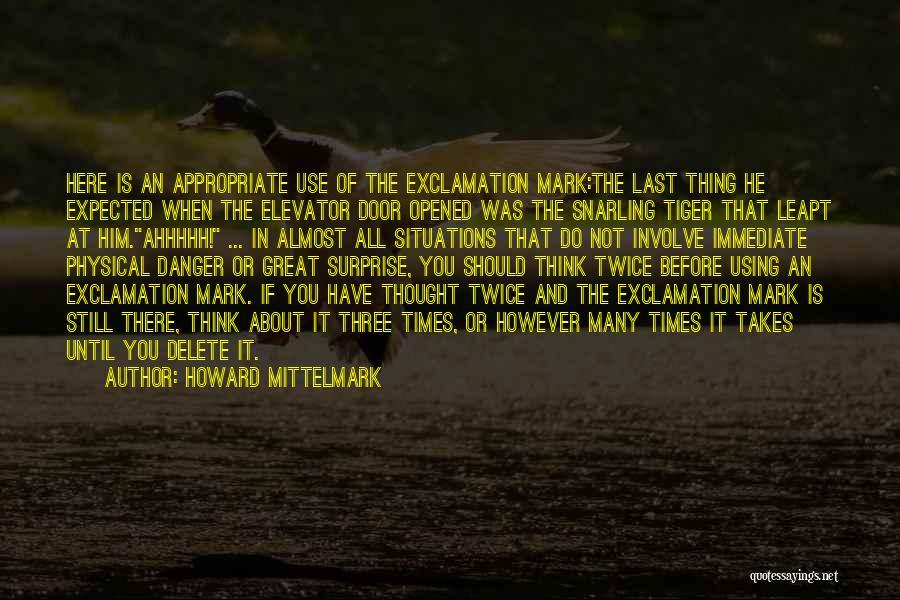Elevator Door Quotes By Howard Mittelmark