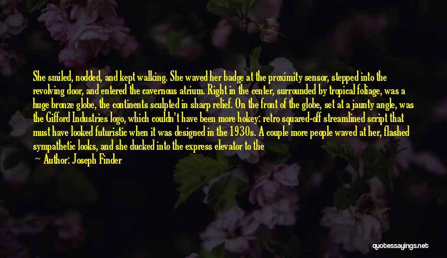 Elevator Door Quotes By Joseph Finder