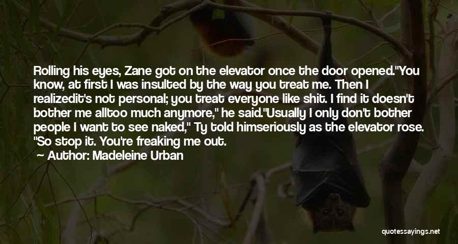 Elevator Door Quotes By Madeleine Urban