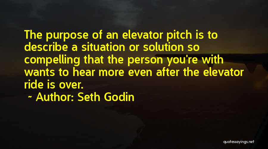 Elevator Pitch Quotes By Seth Godin