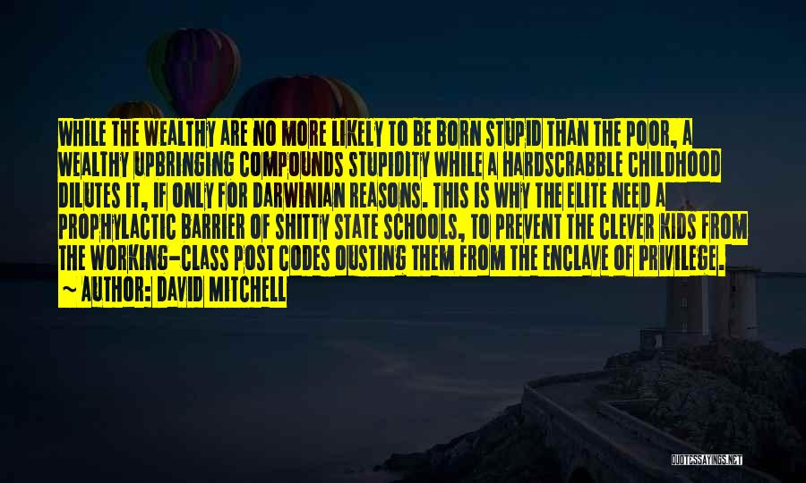 Elite Class Quotes By David Mitchell