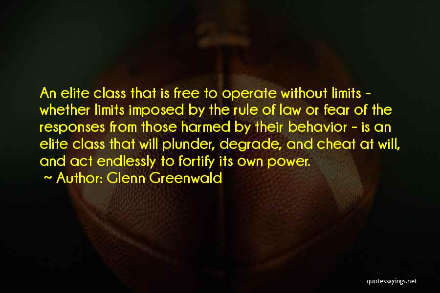Elite Class Quotes By Glenn Greenwald