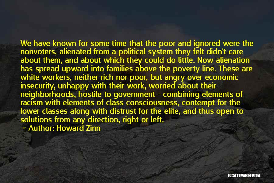 Elite Class Quotes By Howard Zinn
