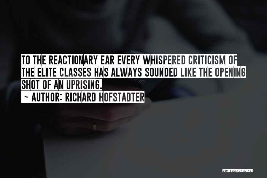 Elite Class Quotes By Richard Hofstadter