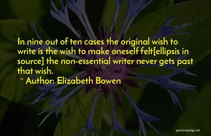 Ellipsis In Quotes By Elizabeth Bowen