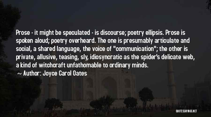 Ellipsis In Quotes By Joyce Carol Oates