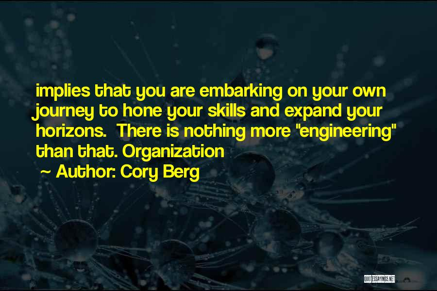 Embarking On A Journey Quotes By Cory Berg