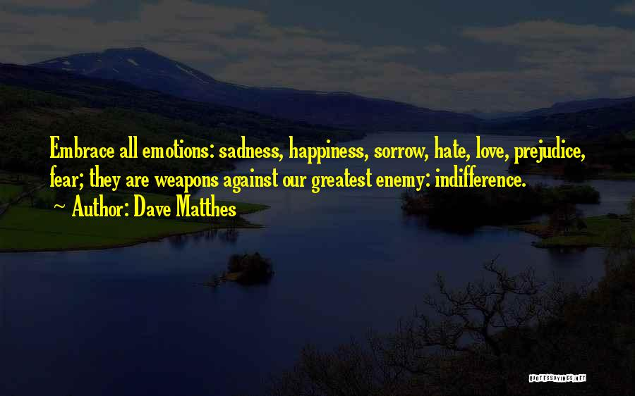 Embrace Fear Quotes By Dave Matthes