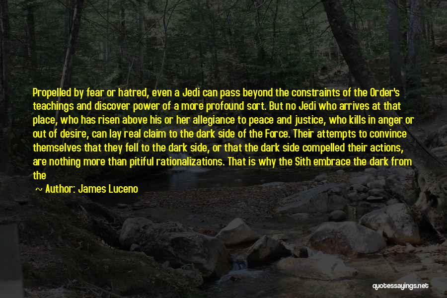 Embrace Fear Quotes By James Luceno