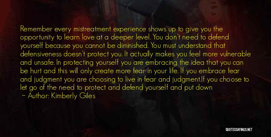 Embrace Fear Quotes By Kimberly Giles