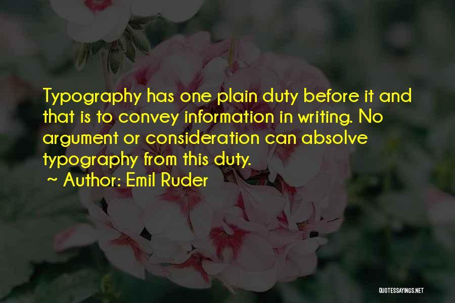 Emil Ruder Quotes 961394