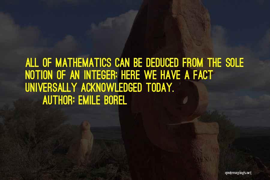 Emile Borel Quotes 526042
