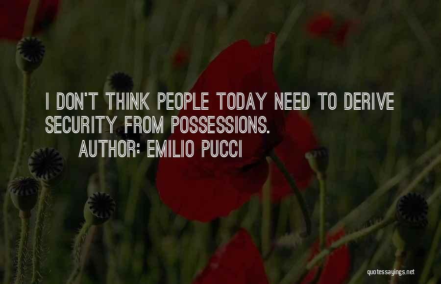 Emilio Pucci Quotes 1253130