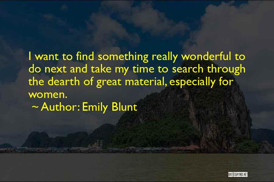 Emily Blunt Quotes 237339
