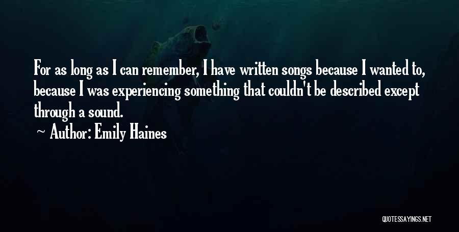 Emily Haines Quotes 1258421