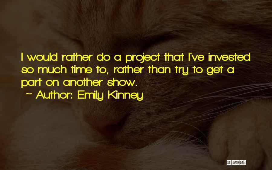 Emily Kinney Quotes 1944959