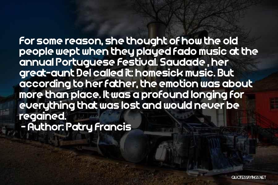 Emotion Over Reason Quotes By Patry Francis