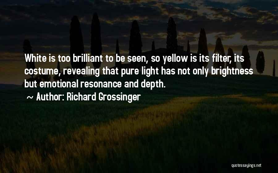 Emotional Depth Quotes By Richard Grossinger