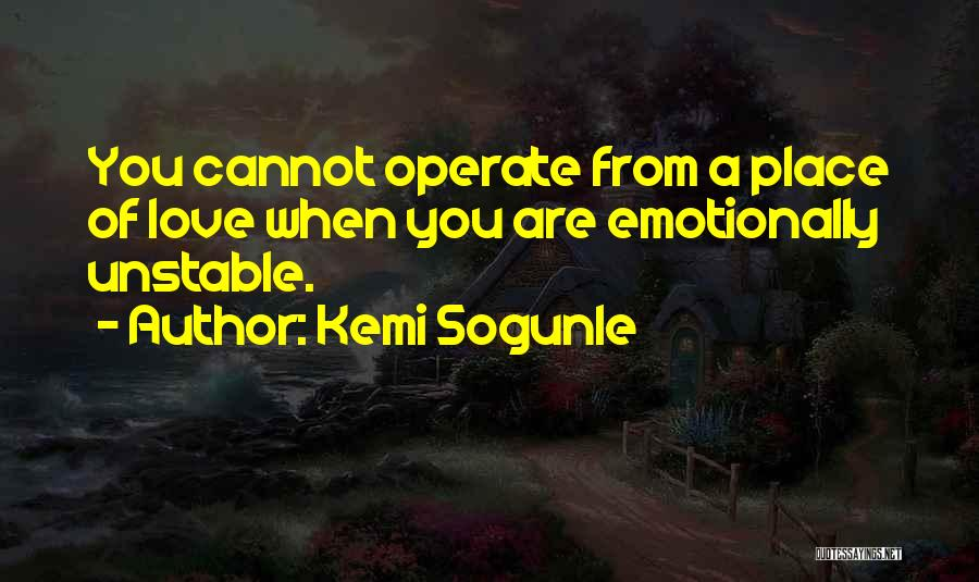 Emotional Growth Quotes By Kemi Sogunle