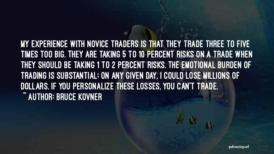 Emotional Loss Quotes By Bruce Kovner