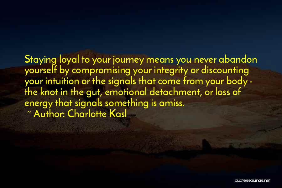 Emotional Loss Quotes By Charlotte Kasl