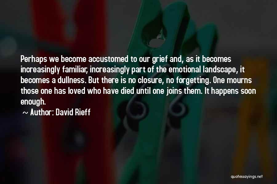 Emotional Loss Quotes By David Rieff