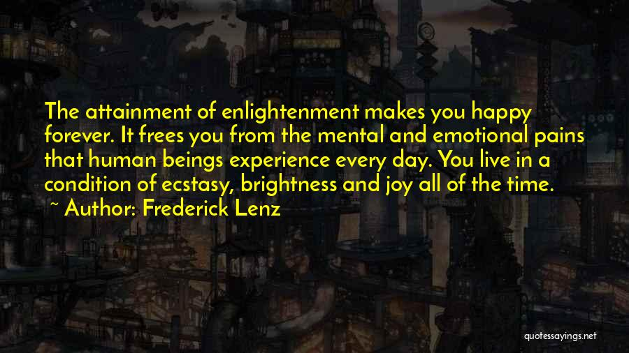 Emotional Pain Quotes By Frederick Lenz