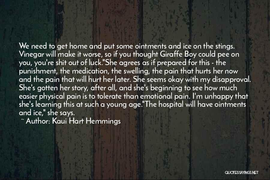 Emotional Pain Quotes By Kaui Hart Hemmings