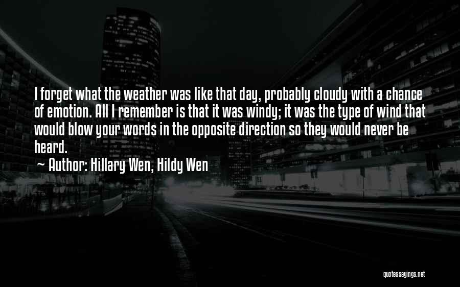 Emotionless Quotes By Hillary Wen, Hildy Wen