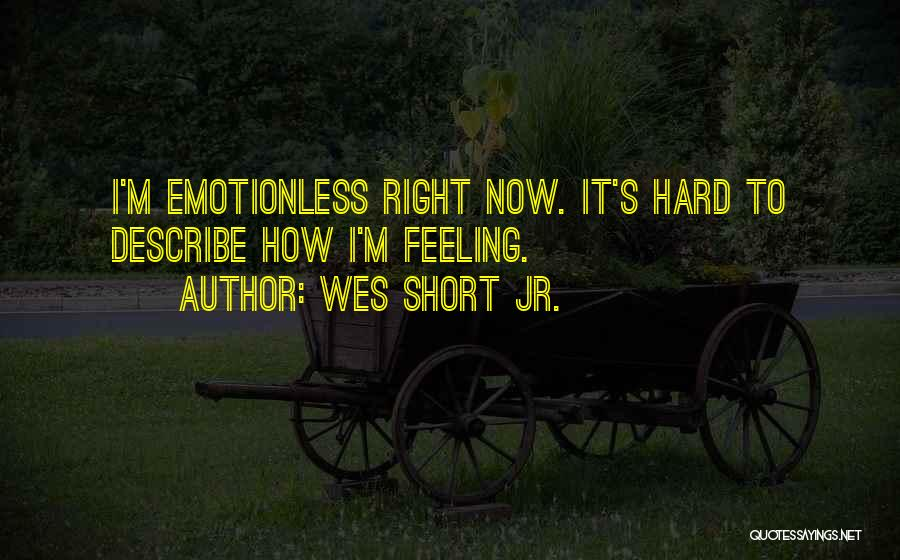 Emotionless Quotes By Wes Short Jr.