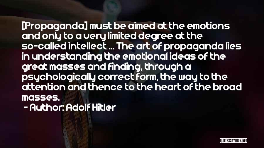 Emotions And Art Quotes By Adolf Hitler