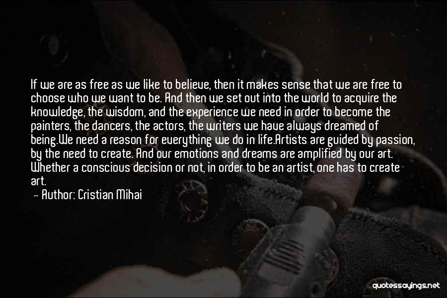 Emotions And Art Quotes By Cristian Mihai