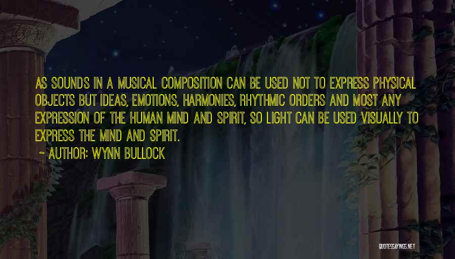 Emotions And Art Quotes By Wynn Bullock