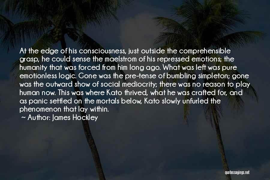 Emotions And Logic Quotes By James Hockley