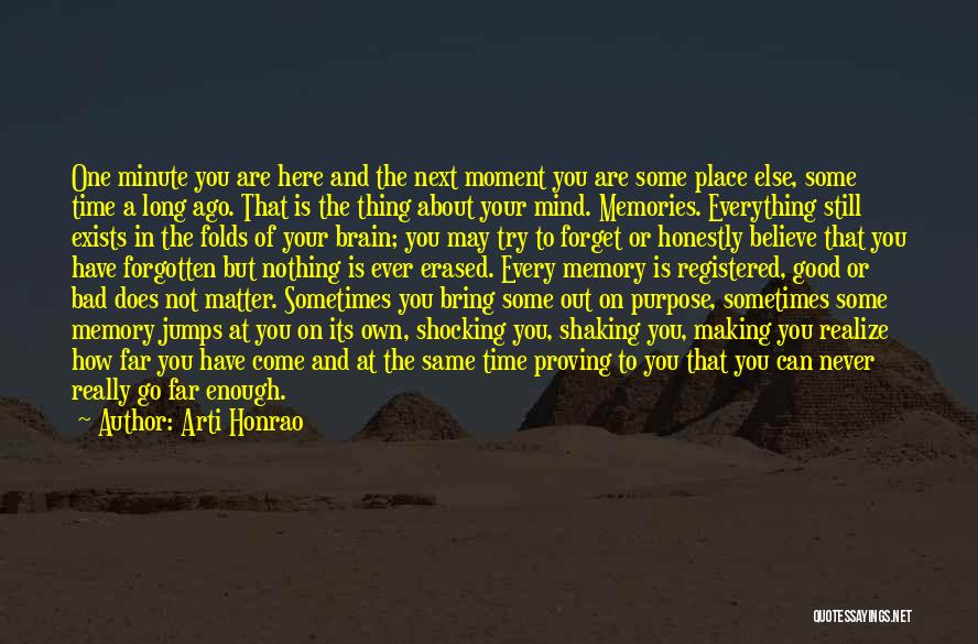 Emotions And Memories Quotes By Arti Honrao